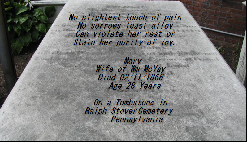 Ralph Stover Tombstone